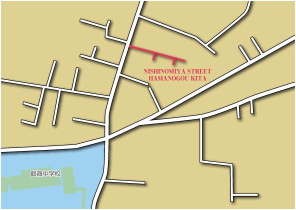 ニシノミヤストリート浜之郷北地図