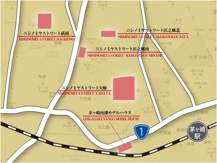 ニシノミヤストリート広域地図